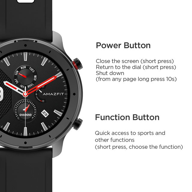 In Stock Amazfit GTR 47mm Lite Smart Watch Swimproof Smartwatch 24 Days Battery for Android ios phone 4