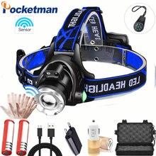 80000 Lumens LED headlamp fishing headlight T6/L2/V6 3 modes Zoomable lamp Waterproof Head Torch flashlight 18650