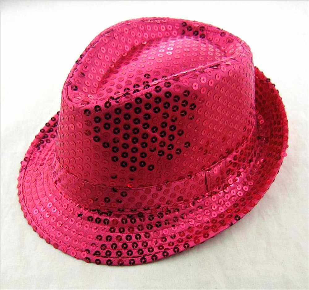 ARLONEET נצנצים פדורה כובע ילדי בני בנות יוניסקס ג 'אז כובע כובע טרילבי כובע כובע ביצועים קרנבל יום הולדת כובע מסיבת