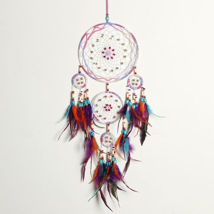 Dream catcher hanging DIY decoration nordic decorate home women girl room nursery kids decor dreamcatcher children boy catchers