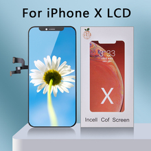 цены AAA+++RJ Incell Ecran for IPhone X LCD Screen Replacement LCD Display with Great 3D Touch Assembly Pantalla Perfect Repair LCD