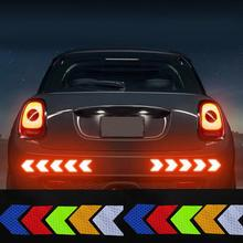 12PCS Big Car Night Warning Reflective Car Sticker Scratch Modified Electric Motorcycle Body Sticker