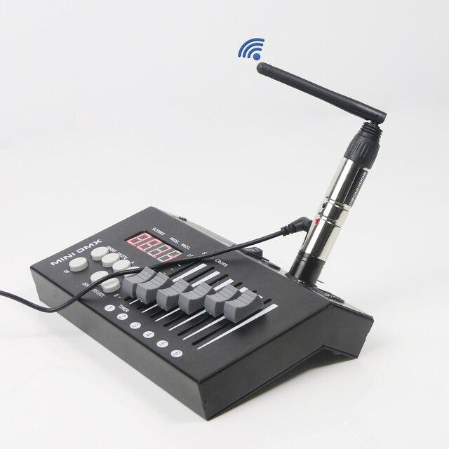 2.4G 무선 DMX 충전식 배터리 무선 Dmx512 송신기 및 수신기 DMX 컨트롤러 LED 디스코 빛 이동 머리