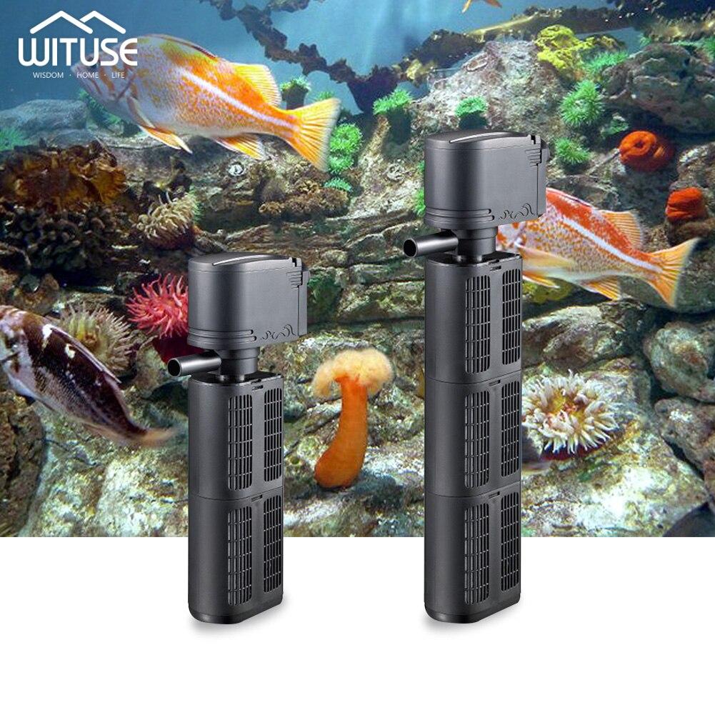 Internal Filter Pump 3 in 1 Submersible Fish Tank Aquarium Oxygen Pump 220V
