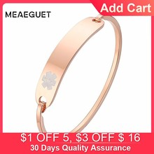 Personalized Women Cuff Bracelet In Rose Golden Type 1 Diabetes Medical Femme Bangle Pulseira Mom Gift