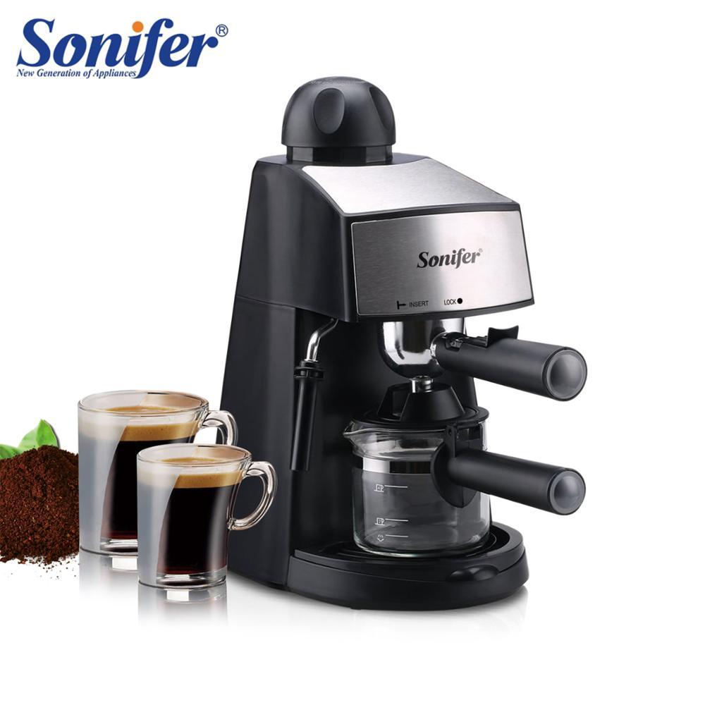 240ml Semi-Automatic Espresso Electric Coffee Machine Express Electric Foam Coffee Maker Kitchen Appliances 220V Sonifer