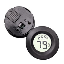 HOT SALE Pet Thermometer Hygrometer Round Digital LCD Display Temperature Humidity Monitor cheap