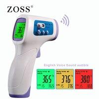 Zoss muti fuction bebê/adulto digital termomete infravermelho testa corpo termômetro arma sem contato dispositivo de medição de temperatura Termômetros     -