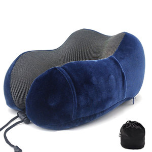 Image 1 - U Shaped Memory Foam Neck Pillows Soft Slow Rebound Space 30*28*14CM Cervical Healthcare Bedding Drop Shipping Travel Pillow