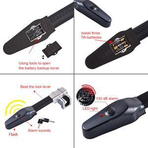 Image 2 - Mikro titreşim kontrol Buzzer Alarm sesi araba Van direksiyon kilidi güvenlik kelepçesi Anti hırsızlık güvenlik ağır hizmet tipi