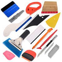 Kit de herramientas de vinilo FOSHIO Kit de herramientas de coche con imán de fibra de carbono