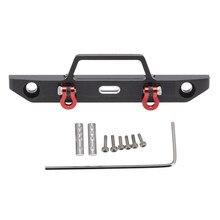Pour Axial SCX24 90081 1/24 RC chenille voiture mise à niveau pièces en métal avant pare-chocs accessoires