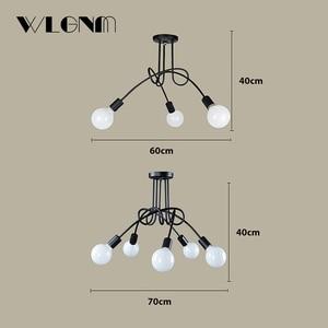 Image 3 - Nordic Loft Chandelier lighting,Vintage Industrial Ceiling Lamp,люстра lustre,bending personality for home & store,E27,3/5Lights