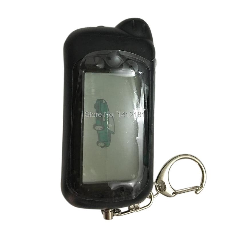 RU Z5 Car Remote Control Key Fob For Russian Tomahawk Z5 Z3 Lcd Remote Keychain Two Way Car Alarm System, 434MHz 1.5V AAA