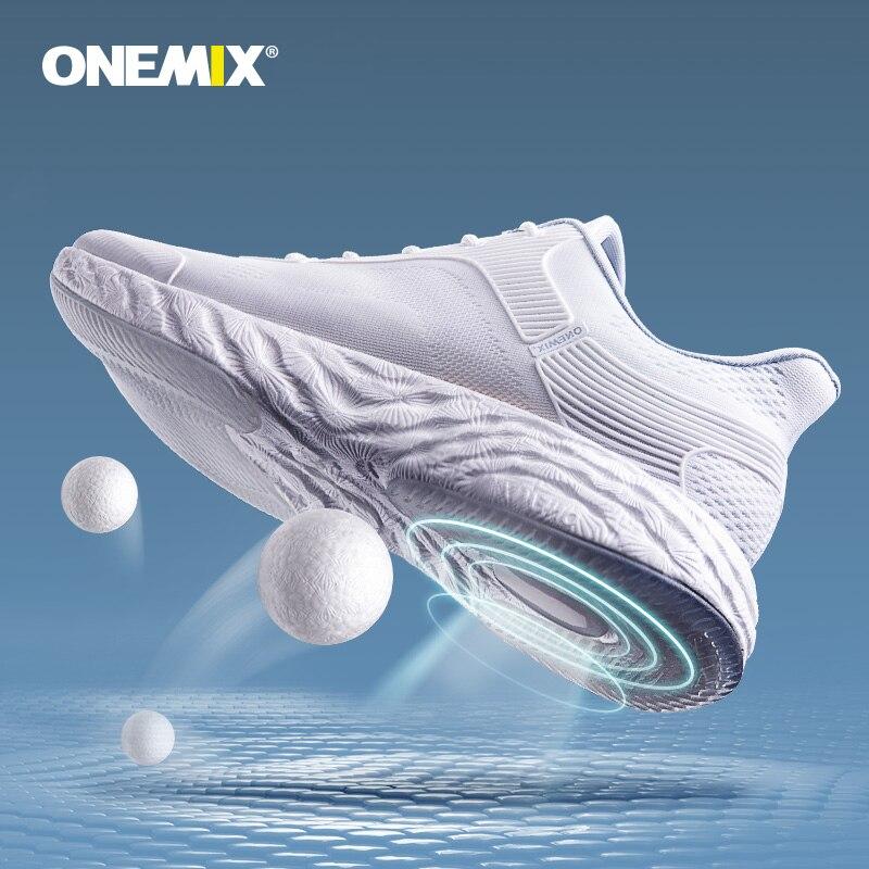 Кроссовки ONEMIX 2020, мужские кроссовки, высокотехнологичные Брендовые женские мужские спортивные туфли, дышащая удобная спортивная обувь с во...