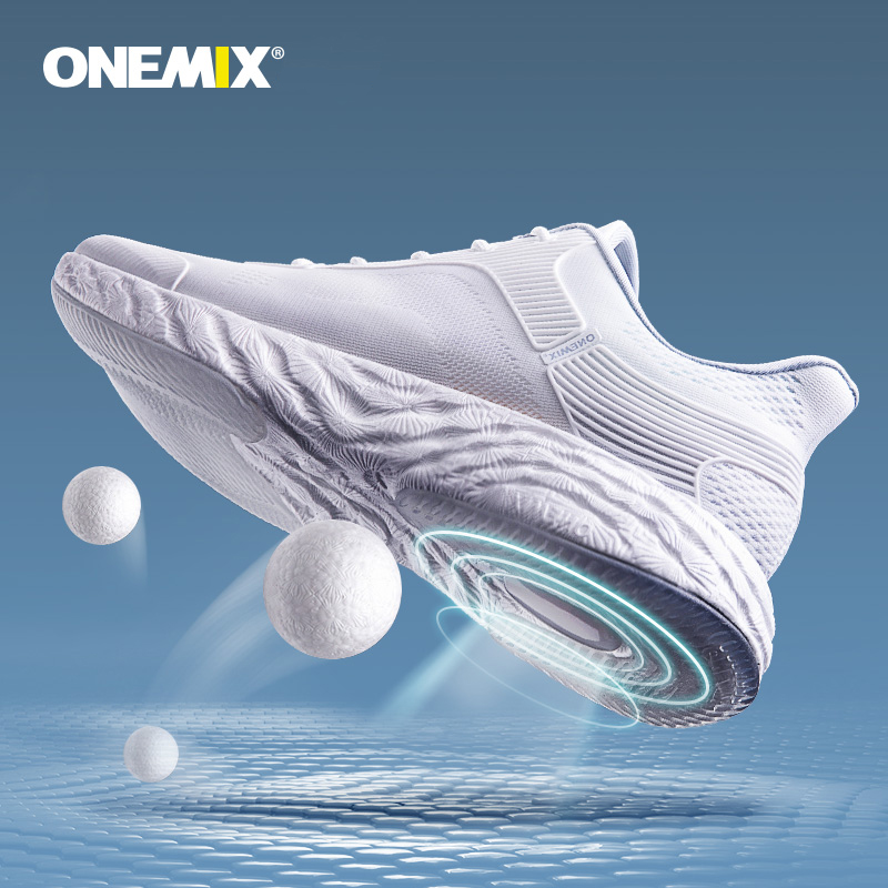 ONEMIX 2020 Sneakers Men Running Shoes High-tech Sneakers Women Energy Drop Jacquard Vamp Super Outsole Sepatu Jogging Pria