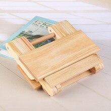 Портативный простой сосновый твердый деревянный складной стул открытый стул для рыбалки