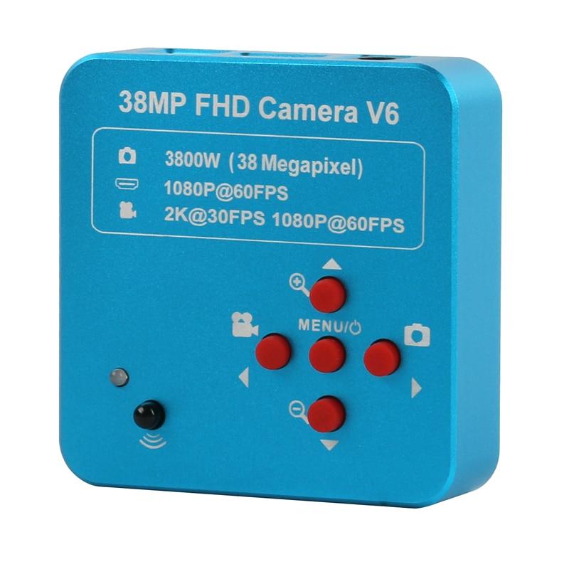 HDMI USB 38MP 2K Industrial Microscope Camera 1080P 60FPS Digital Camera Video Microscope Recorder For Phone CPU PCB Repair