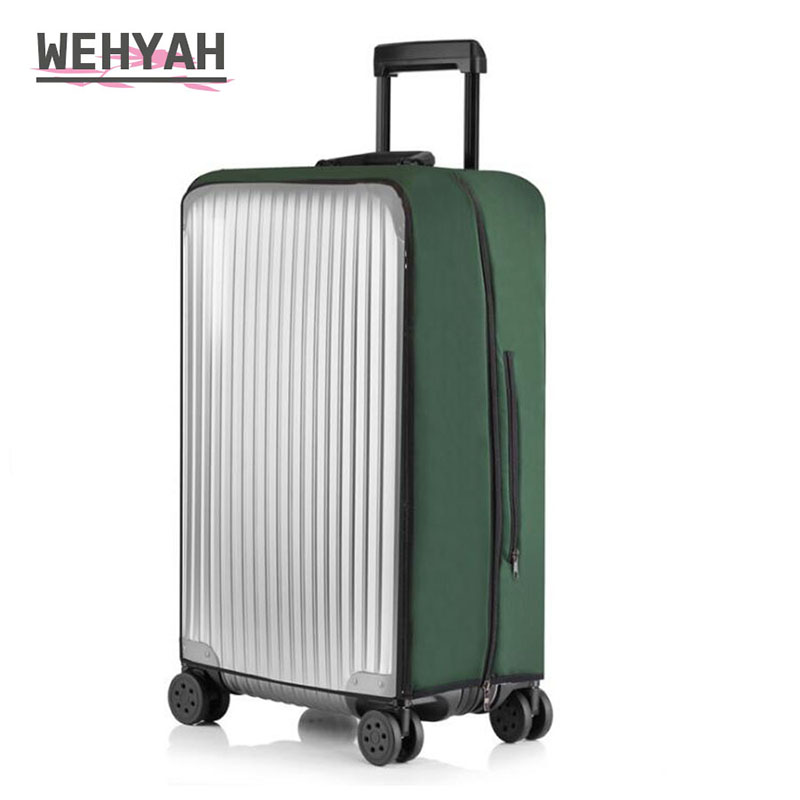 Wehyah Elastic Waterproof Protection For Luggage PVC Covers Suitcase Cover Travel Accessorie Dust Proof Cover Trolley Case ZY137