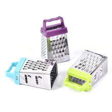 Box-Container Cutter Slicer Kitchenware Grater Cheese Vegetables Stainless-Steel 4-Sided