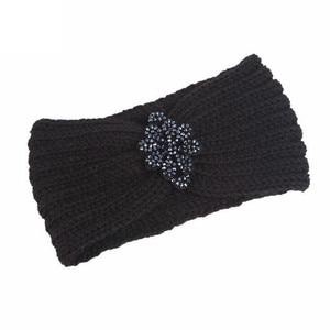 1Pcs Women Knitted Headbands Winter Warmer Ear Knitted Hair Accessories Crochet Wide Pearl Headwrap Headdress Turban Hairband(China)