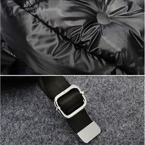 Image 5 - 트렌디 배낭 공간 면화 방수 따뜻한 배낭 캐주얼 단색 학생 배낭 숙녀 배낭의 한국어 버전