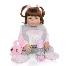 57CM bebe doll reborn baby real alive sweet girl full body s