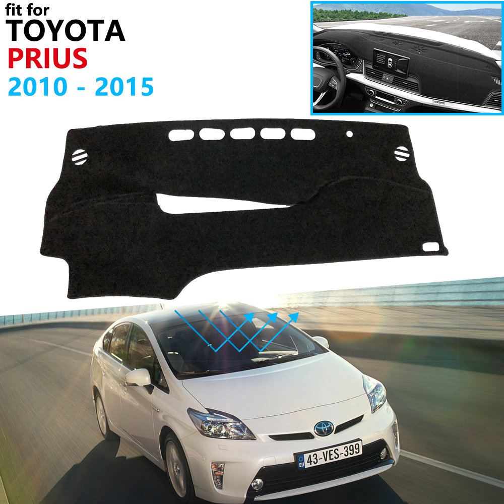 Dashboard Cover Protective Pad for Toyota Prius 30 2010~2015 XW30 Car Accessories Dash Board Sunshade Carpet 2011 2012 2013 2014|Car Stickers| |  - title=