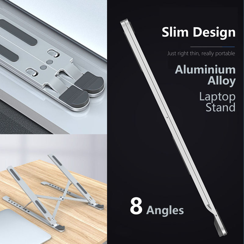 Stand For Laptop 8 Angles Aluminum Adjustable Foldable Adjustable For Macbook Pro Air Notebook Tablet Holder Desk Stand 2 Color