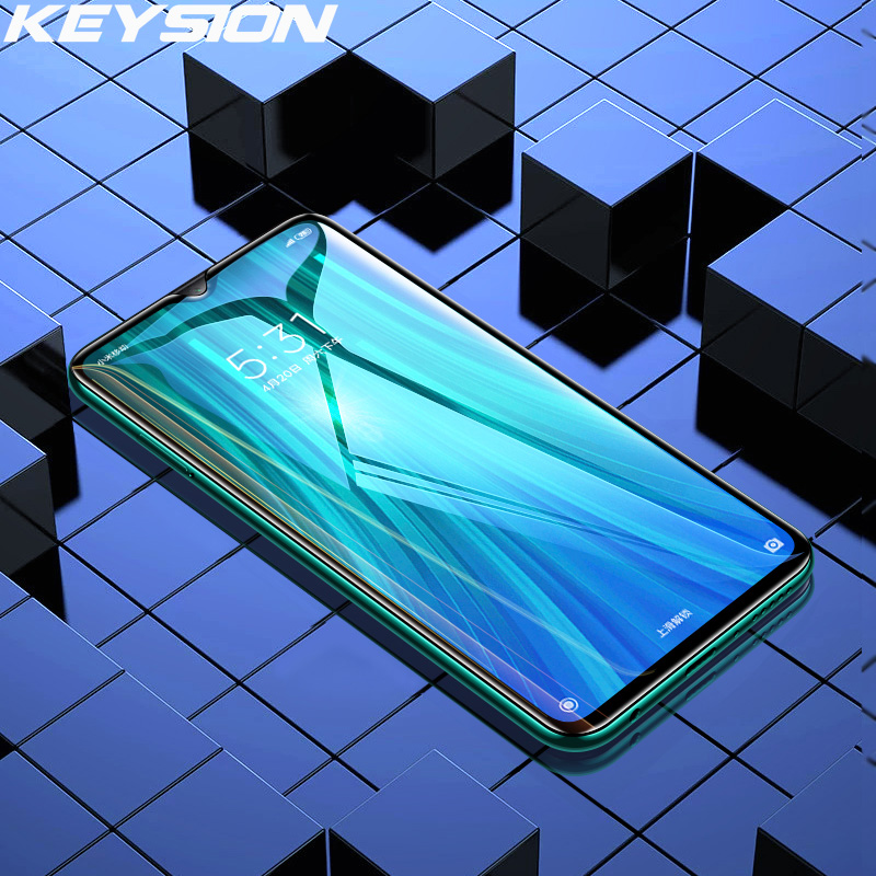 KEYSION Tempered Glass For Redmi Note 8 8 Pro 8T 8A 7 7A Screen Protector Phone HD Clear Full Cover Glass For Redmi Note 7 6 Pro