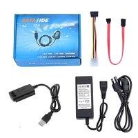 Adaptador de disco duro, Cable de transferencia USB 2,0 a SATA PATA IDE 2,5 3,5 HDD SSD, Kit para disco duro de 2,5/3,5 pulgadas, enchufe UK/EU