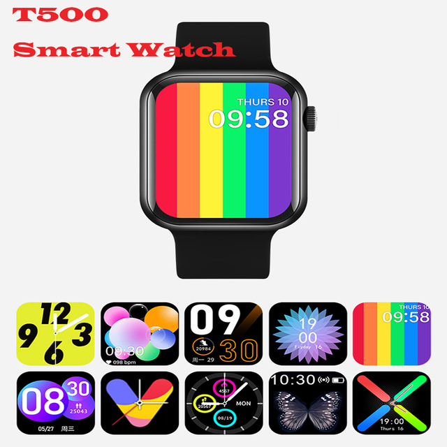 Fashion T500 Plus Smart Watch Bluetooth Call Music Smartwatch Fitness Tracker Heart Rate Health Monitoring Wearable Devices