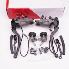 19mm tłok motocykl kute aluminium lustro zacisk Radial główny Cylinder hamulca hydraulicznego linka sprzęgła dźwignia hamulca duży tłok tanie tanio OIMG CN (pochodzenie) Liny i Kabli Uniwersalny Radial Mounting Brake Clutch 0inch 19rcs brake lever 0 83inch universal Forged Aluminum