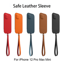Genuine Safe Leather Sleeve For iPhone12 Pro Mini Leather Wallet Card Pocket Mag Magnetic Safe Pouch Case For Iphone 12 12Promax