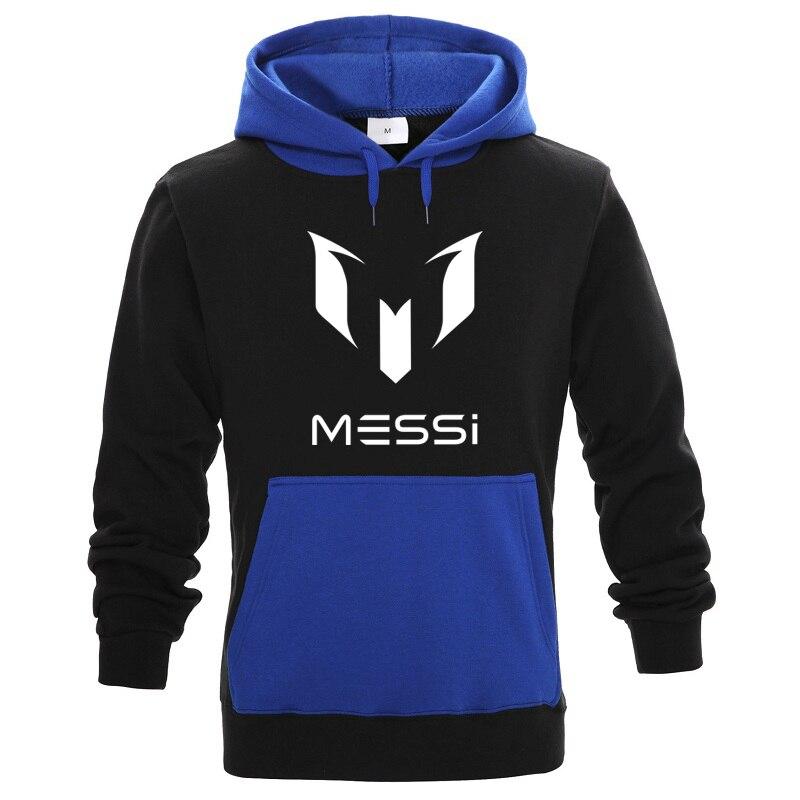 Fashion Brand Sweatshirt Hoodies Men Messi Print Fleece Jacket Mens Hoodie Sportswear Streetwear Hip Hop Harajuku Male Clothing
