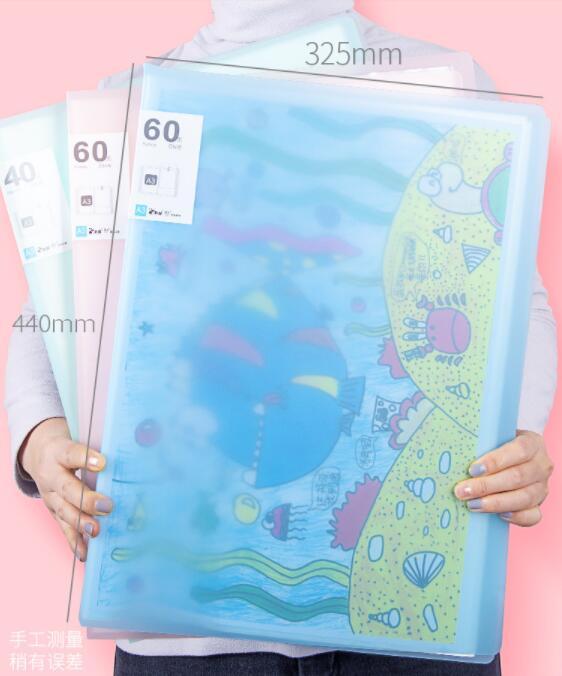 A3 Data Document Presentation Folder 297*420mm 60/40 Page Transparent Folder Vertical Insert Document Booklet Display Book