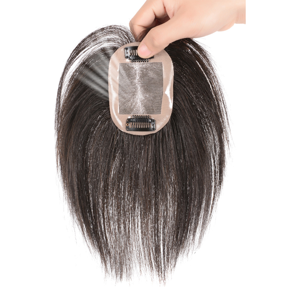 SHANGKE Hair Extensions Brazilian Women's Wig Natural Synthetic Black Straight Hair Bangs Daily wig