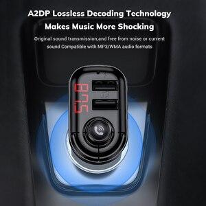 Image 5 - TOPK 4.1A podwójna ładowarka samochodowa USB nadajnik FM Bluetooth Car Audio odtwarzacz MP3 szybka ładowarka samochodowa ładowarka do telefonu iPhone