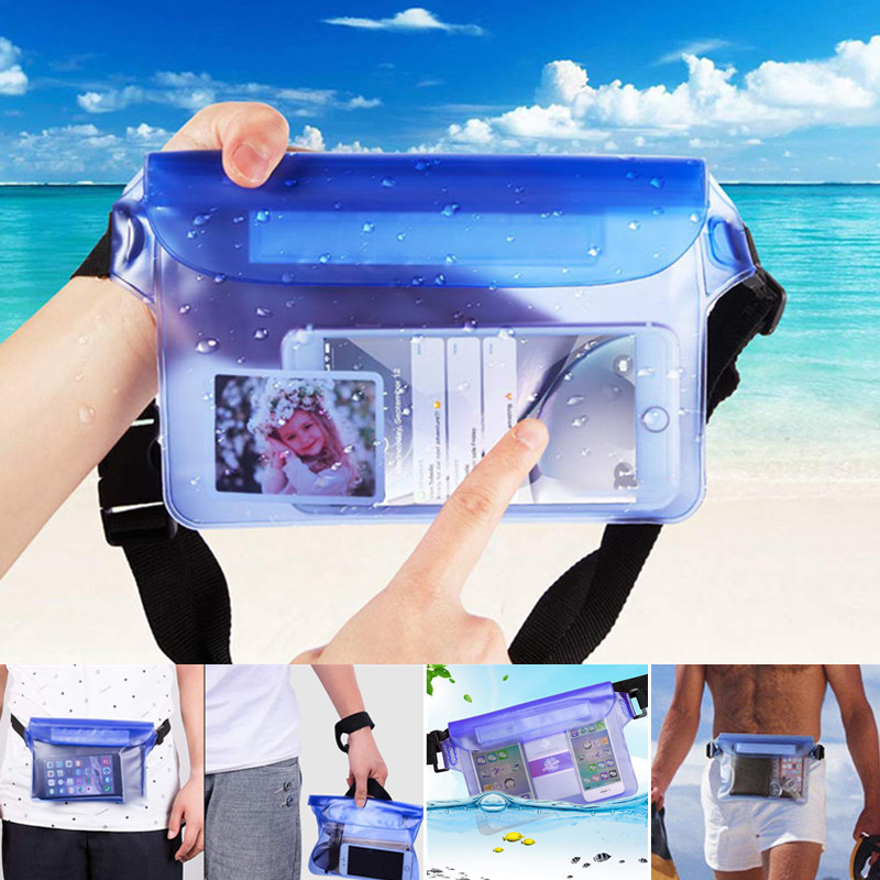 Waterproof Swimming Bag For Mobile Phone Pouch Adjustable Waist Pack Bag Shoulder Bags For Outdoor Water Beach Boat Sports
