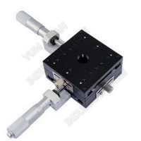 """80*80mm XY Axis 3"""" Trimming Station Manual Displacement Platform Cross Roller Guide Way Linear Stage Sliding Table LY80 C