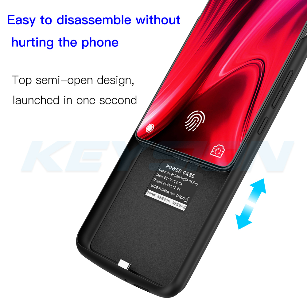 KEYSION 6500mAh Portable Battery Case for Xiaomi Mi 9T Pro 9 SE A3 CC9e Power Bank Power Charging Case for Redmi K20 Note 7 Pro in Battery Charger Cases from Cellphones Telecommunications