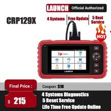 LAUNCH X431 CRP129X Scanner de moteur automobile, outil de Diagnostic de voiture, lecteur de Code, câble OBDII, ABS SRS, Transmission dhuile/EPB/TPMS