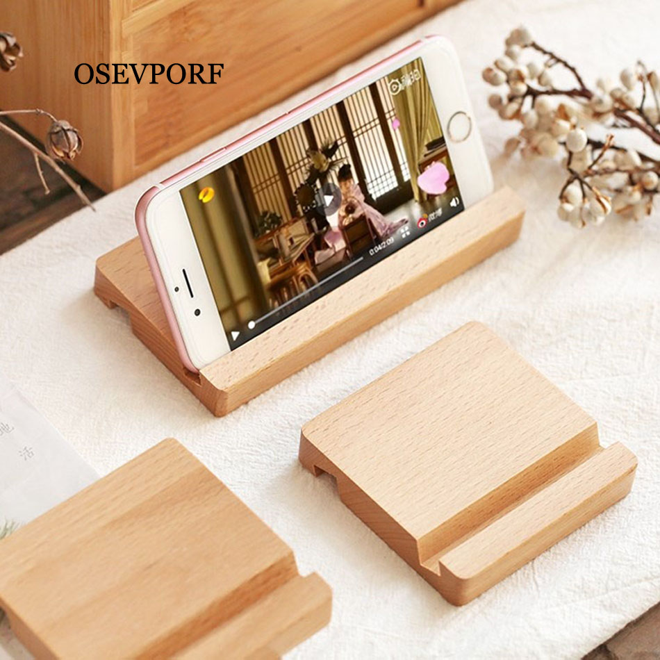 Universal Wooden Desk Holder For Xiaomi Mobile Phone Holder For IPhone 11 Pro X Max S Samsung S9 S10 Wood Tablets Stand For Ipad