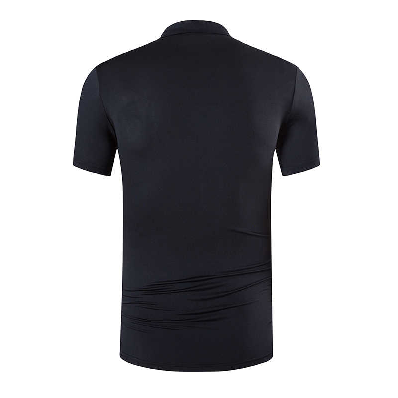 Jeansian 남자 스포츠 티 폴로 셔츠 POLOS Poloshirts 골프 테니스 배드민턴 드라이 피트 반소매 LSL269 Black2