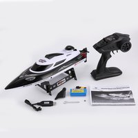 HONGXUNJIE RC boat HJ806 47cm 2.4G RC 30km/h High Speed Racing Boat Water Cooling System Flipped Omni directional Voltage Promp