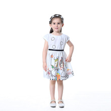 цена на Girls Dresses Kids Summer Dress for Girls Sleeveless Print Dress Girls Princess Dress Children Clothes 3 4 5 6 7 8 9 10 Years
