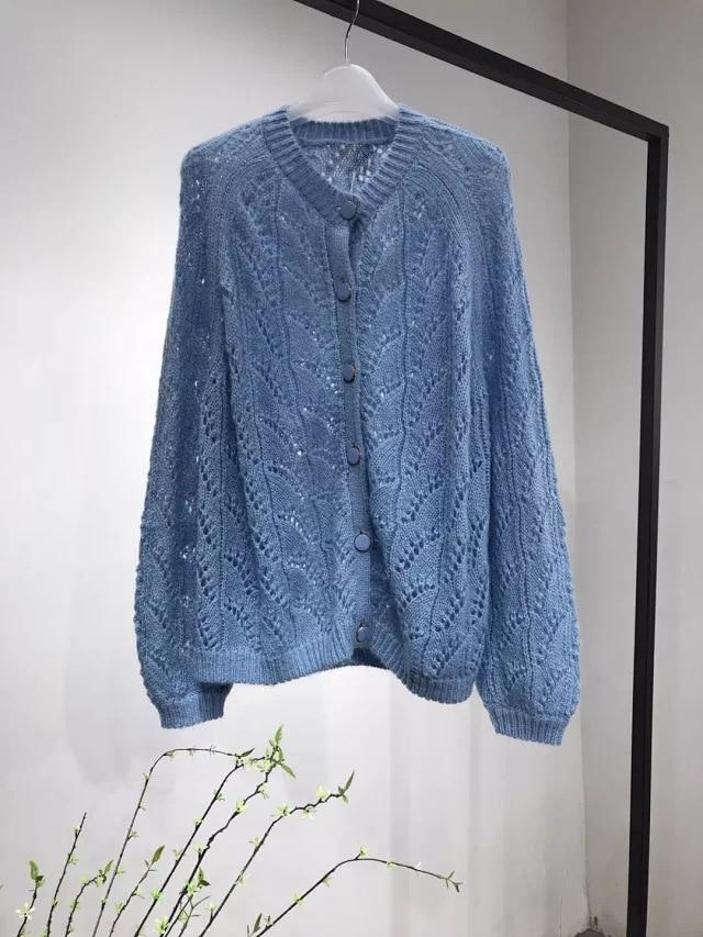 ผู้หญิง Cardigans เสื้อกันหนาว V คอนุ่มหลวมเดียว Breasted Casual ถัก Cardigan Outwear ฤดูหนาวแจ็คเก็ต Coat-ใน คาร์ดิแกน จาก เสื้อผ้าสตรี บน   1