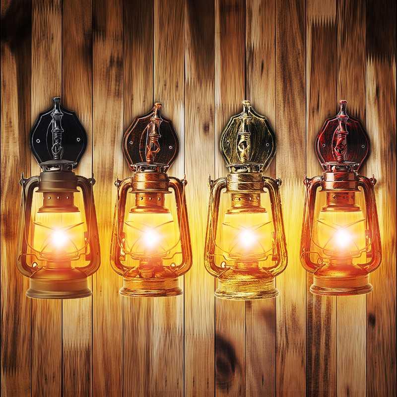 Retro Wall Light E27 Vintage Kerosene Pendant Lamp 4 Colors Hanging Lamp For Home/Bedroom/Living Room Industrial Pendant Lights