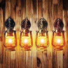 Luz de pared Retro E27 lámpara colgante de queroseno Vintage 4 colores lámpara colgante para el hogar/dormitorio/sala de estar Industrial colgante luces