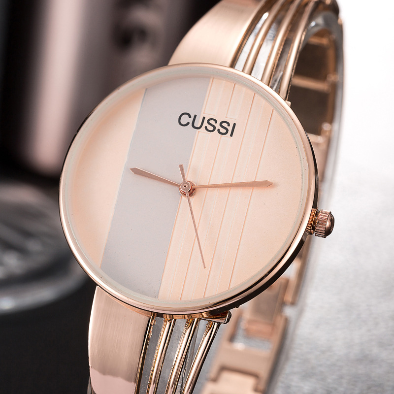 CUSSI Bracelet Watches Reloj-Hours Quartz Classic Feminino Top-Brand Ladies Luxury